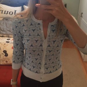 Light blue patterned cardigan, Halogen, small